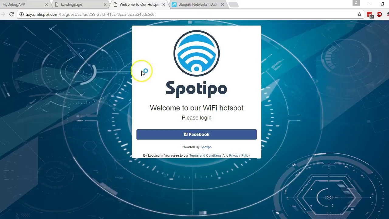 How to configure Facebook Login In Unifi using Spotipo
