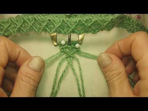 Макраме, Macrame, пояс из больших ромбов в технике макраме, браслет, широкий браслет