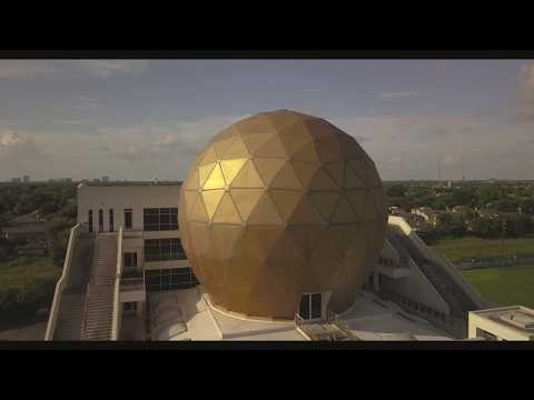 Giant Golden Golf Ball
