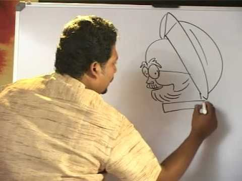 World's Fastest Cartoonist Jithesh sketches Indian Prime Minister