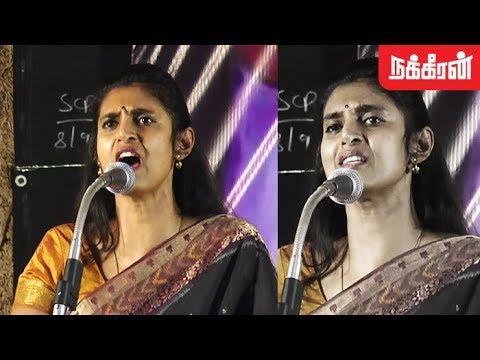 அதிரடி அரசியல் பேச்சு... Actress Kasthuri latest political speech | Ban NEET