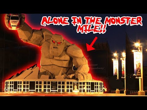NASCAR HAS A SECRET MONSTER AND I FOUND THIS INSIDE!! EXPLORING THE MONSTER MILE ALONE