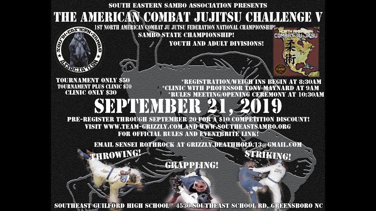 The American Combat Jujitsu Challenge V Registration, Sat, Sep 21