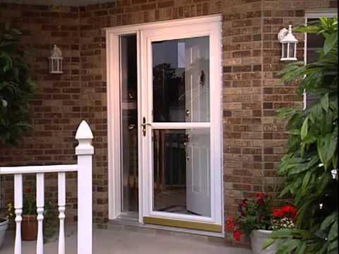 Screen Away Larson Storm Doors  YouTube