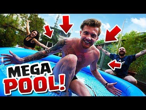 Unser neuer Mega Pool!