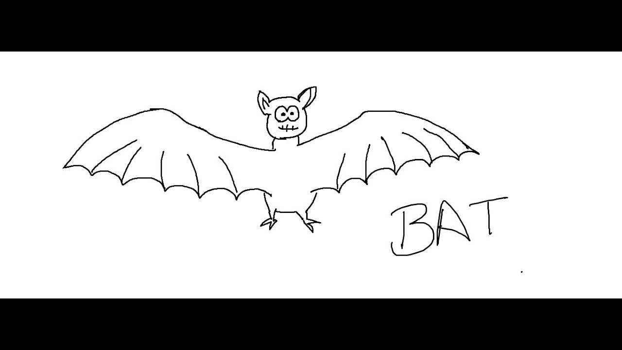 easy kids drawing lessons how to draw a bat for kids - Kids Drawing Pics