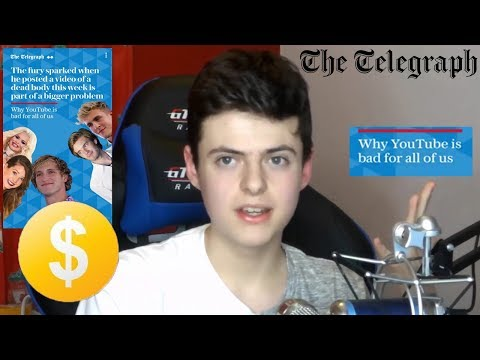 """The Telegraph reports """"Why YouTube is bad for all of us..."""" (Post Logan Paul Controversy)"""