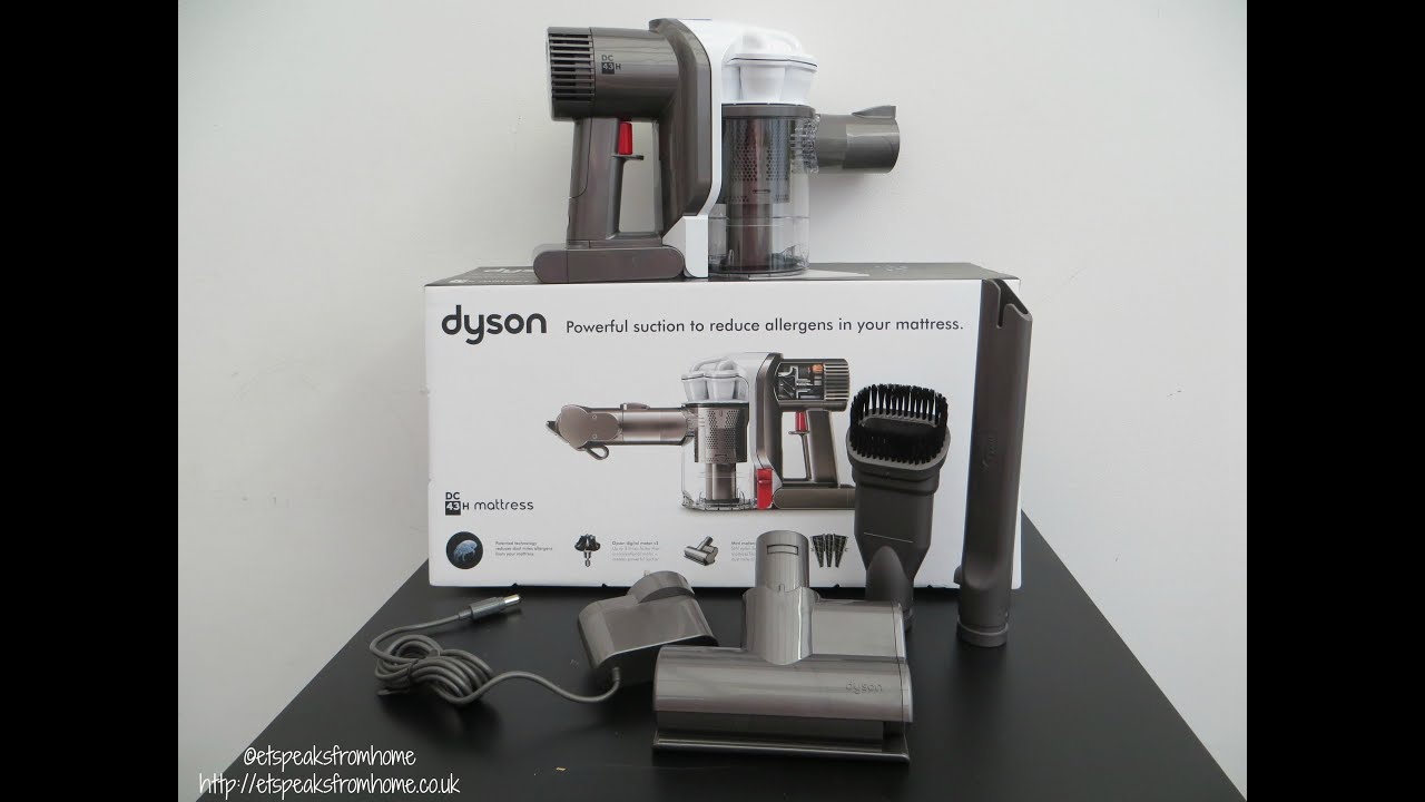 dyson dc43h mattress handheld vacuum cleaner review youtube