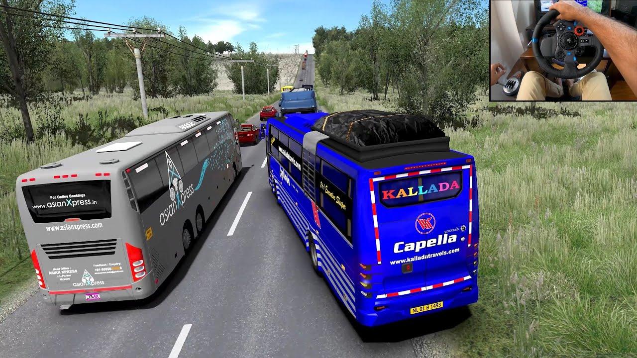 ULTIMATE chasing and racing between KALLADA, SRS \u0026 Asian Xpress   Bus driving Euro truck simulator 2