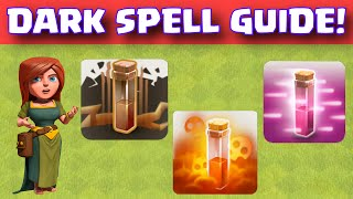 Clash Of Clans Dark Spells Attack Strategy Guide | How To Use Earthquake Poison Haste Dark Spells