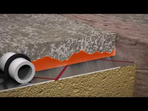 ProWarm™  Warm water underfloor heating kit installation -- Dry Sand & Cement method