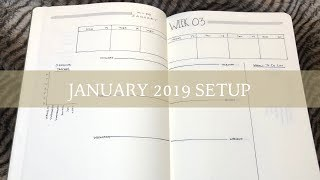 January 2019 Bullet Journal Setup | New Weekly Spread