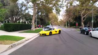 Ferrari racing in beverly hills