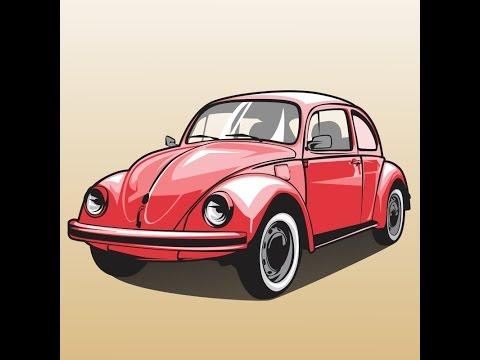 how to draw a slug bug