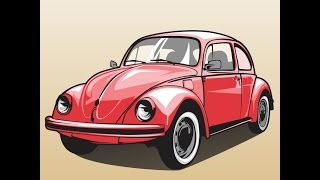 HOW TO DRAW A CAR | VW BEETLE
