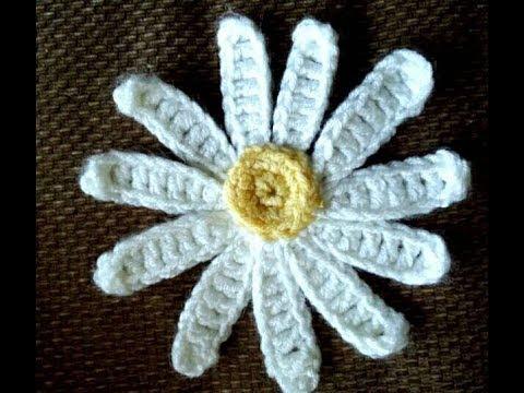 Crochet Marguerite Fleur 2 Youtube