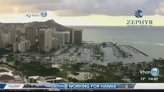 Trade winds will gradually increase over the next couple of days