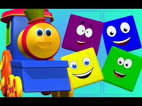 Bob, chuyến tàu   bob đi tàu màu cho trẻ em   bob childrens tàu hỏa