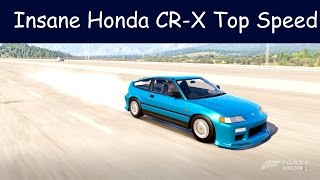 Forza Horizon 2 - 1991 Honda CR-X SiR Top Speed - Insane
