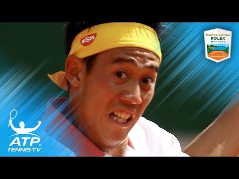 FUNNY: Kei Nishikori stumbles over at Monte-Carlo 2018 trophy ceremony