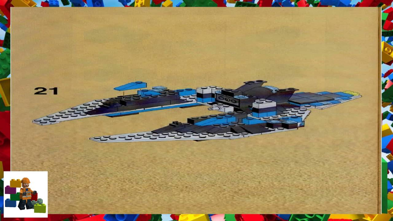 Lego Instructions Space Unitron 1789 Star Hawk Ii Youtube