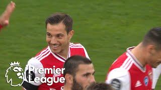 Cedric Soares' debut goal puts Arsenal 4-0 up against Norwich City   Premier League   NBC Sports