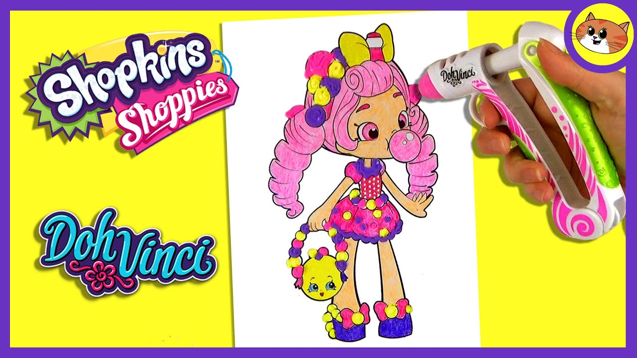 Shopkins coloring pages nail polish - Dohvinci Shopkins Bubbleisha Shoppies Coloring
