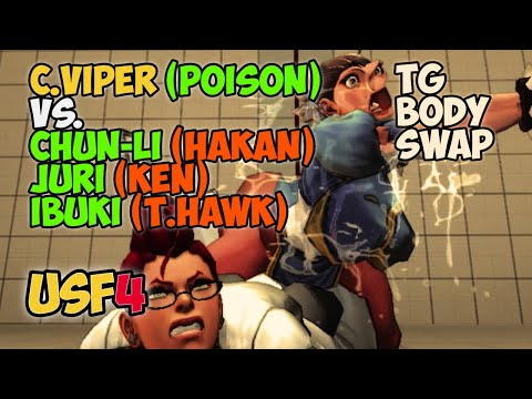 Ultra Street Fighter IV [PC] Body swap C.Viper to Poison VS. TG Chan-Li, Juri, Ibuki | TG Body |