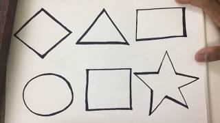 How to Draw Shapes Step By Step and Coloring Shapes for Toddlers | Kids