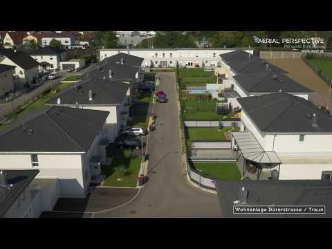 Luftaufnahme mit Drohne Wohnanlage Dürerstrasse/Traun UHD