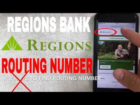 ✅  Regions Bank ABA Routing Number - Where Is It? 🔴