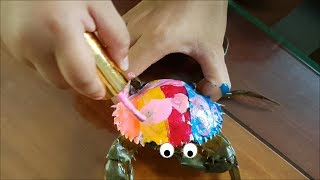 Baby play color with crabs - funny coloring animals