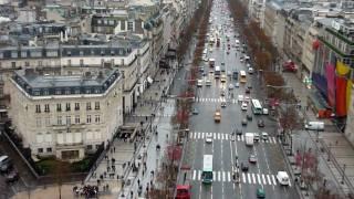凱旋門からのパリの風景