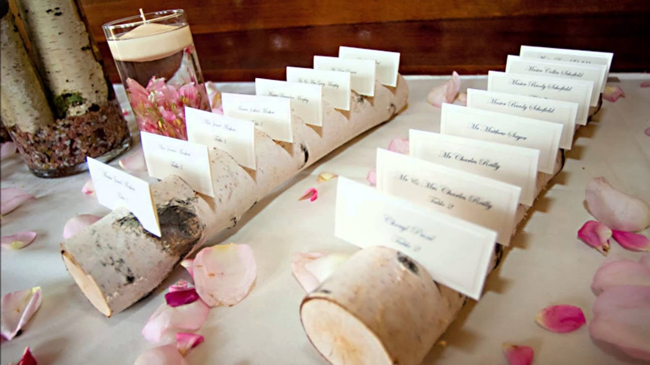 Birch Log Place Card Holders YouTube