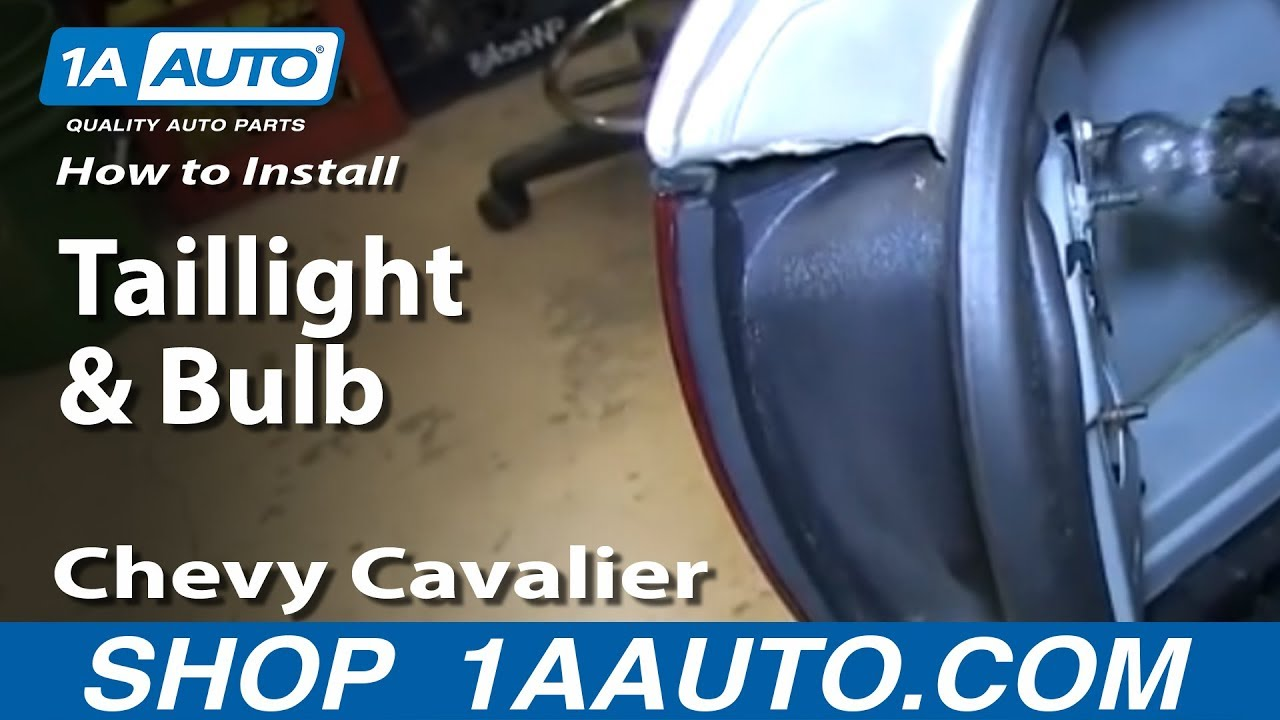 How To Replace Taillight Amp Bulb 00 02 Chevy Cavalier Youtube