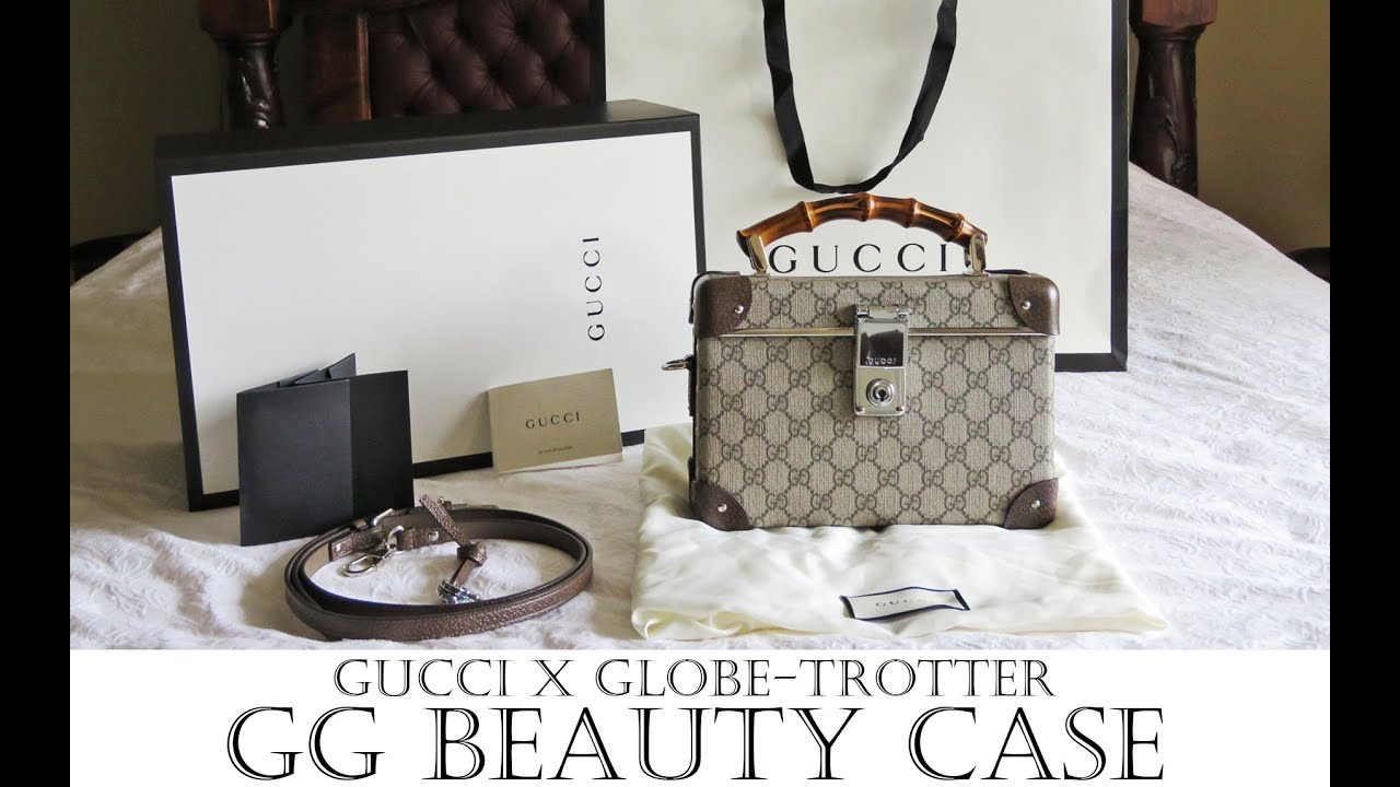8650c1a1b Gucci x Globe-Trotter GG Beauty Case review - Globe-trotter Gucci luggage  history etc!