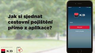 Mobilní banka - jak si sjednat cestovní pojištění? (iOS)