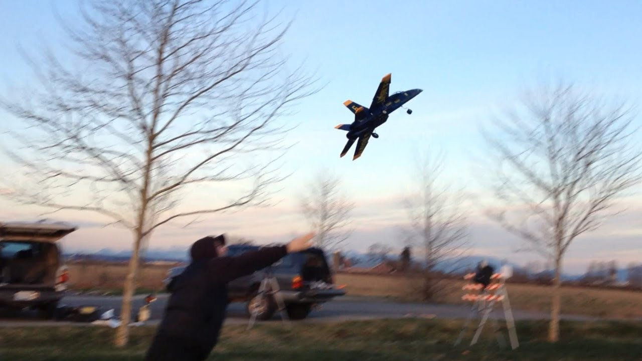 The Hornet Rc >> StarMax BlitzRCWorks 64mm EDF F-18 Super Hornet RC Jet Crash on Take-Off in HD - YouTube
