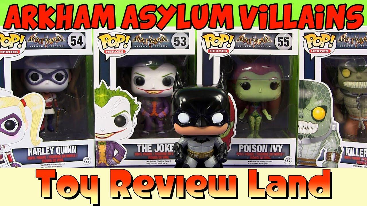 batman arkham asylum villains funko pops harley quinn