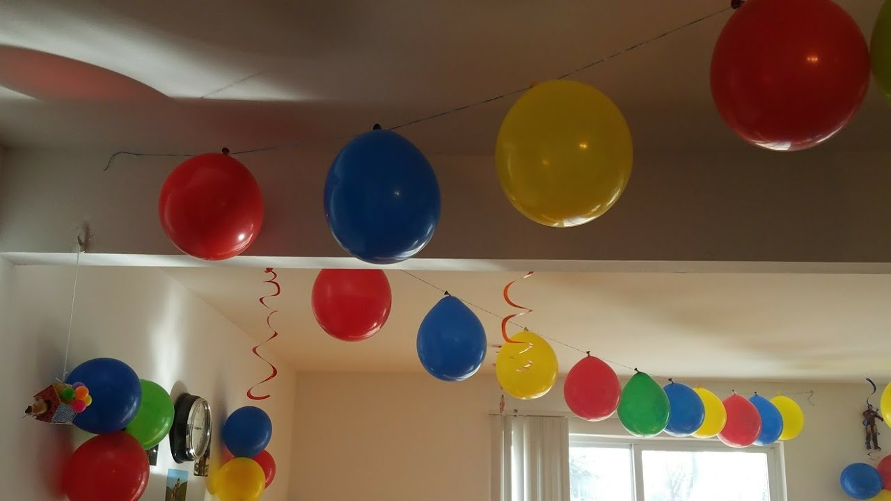 Easy birthday decoration idea birthday decoration ideas at home