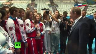 Владимир Путин пообещал научиться играть в водное поло