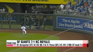 San Francisco power by Kansas City to take World Series lead   샌프란시스코, 캔자스시티 꺾고