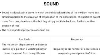 Sound - Physics 5 - RRB JE exam - TNPSC - SSC exam