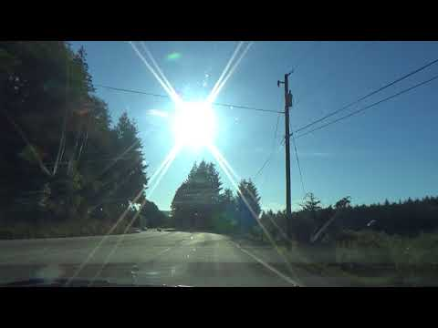 201709101757 - Driving Highway 42 - North Bank Lane - Coquille - Oregon Coast