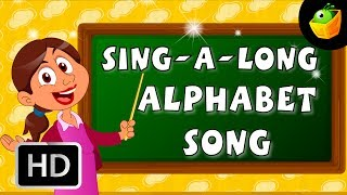 Karaoke: The Alphabet Song - Songs With Lyrics - Cartoon/Animated Rhymes For Kids