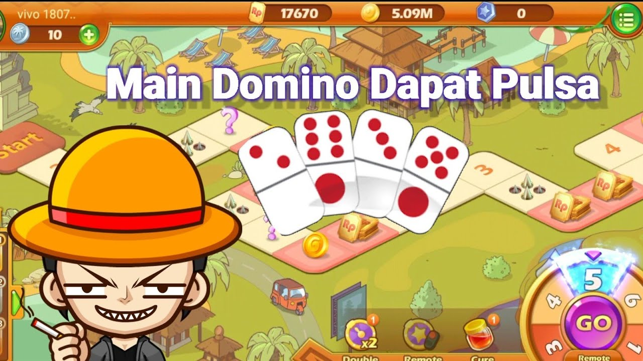 Bermain Domino Gaple Berhadiah Pulsa - YouTube