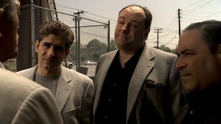 Tony and Phil talk about the attack on Hesh - The Sopranos HD