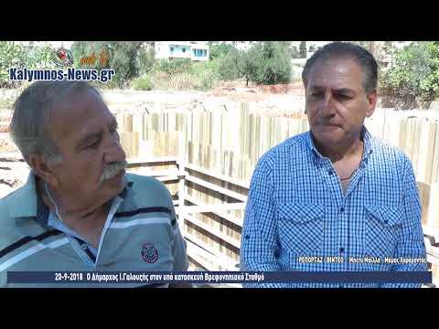 20-9-2018 Ο Δήμαρχος Ι.Γαλουζής στον υπό κατασκευή Βρεφονηπιακό Σταθμό
