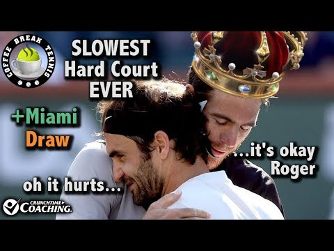 Federer STUNNED, Miami Re-Match? IW Slower than Clay? | Coffee Break Tennis