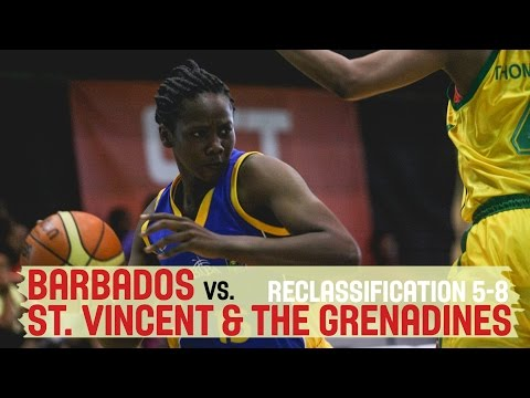 St. Vincent & the Grenadines vs. Barbados - Reclassification 5-8 - 2014 CBC Championship for Women